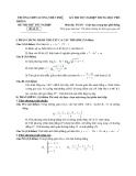 Đề thi thử tốt nghiệp THPT môn Toán - THPT Lương Thế Vinh - Đề 13
