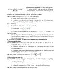 Đề thi thử tốt nghiệp THPT môn Toán của sở GDĐT - Đề 10