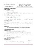 Đề thi thử tốt nghiệp THPT môn Toán của sở GDĐT - Đề 25