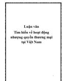 Luận văn Tìm hiểu về hoạt động nhượng quyền thương mại tại Việt Nam