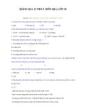 Đề kiểm tra 15 phút Địa lý 10 (Kèm đáp án)