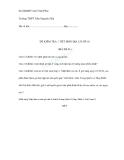 Đề kiểm tra 1 tiết Địa lý 10 - Trường THPT Trần Nguyên Hãn