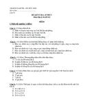Đề kiểm tra 1 tiết Địa lớp 10