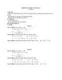 Đề kiểm tra 1 tiết Toán 12 - Chương 4 (số phức) - GIải tích (Kèm đáp án)