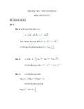 13 Đề kiểm tra 1 tiết Toán 12 - Giải tích chương 2 (Hàm số mũ, lũy thừa, logarit)