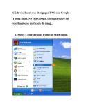 Thủ thuật facebook: Cách vào Facebook thông qua DNS của Google