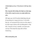 Thủ thuật facebook: 10 thủ thuật cực hay về Facebook có thể bạn chưa biết