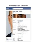 Thủ thuật facebook: Tùy chỉnh trang Facebook Profile của bạn