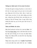 Thủ thuật facebook: Những tuỳ chỉnh tuyệt vời cho status Facebook
