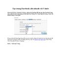 Thủ thuật facebook: Tạo trang Facebook siêu nhanh với 3 bước