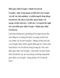 thủ thuật facbiến giao diện google+ thành fac