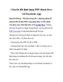 Thủ thuật facebook: Chuyển đổi định dạng PDF thành Docs với Facebook App