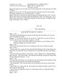 Đề thi học kì 1 môn địa lý lớp 10 trường  THPTNguyễn Đáng - căn bản