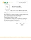 Mẫu xin việc  Ngân hàng TMCP Phương Đông (OCB)