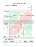 Mẫu đơn thông tin ứng viên ngân hàng Agribank