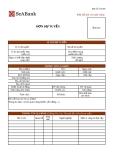 Mẫu đơn thông tin ứng viên ngân hàng SeABank