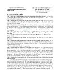Đề kiểm tra học kì mã 209 Hình thức phân bào sinh11 thpt Trưng Vương
