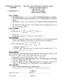 Đề thi tuyển sinh vào lớp 10 trường THPT chuyên Lê Hồng Phong năm học 2013 - 2014 môn toán - Sở giáo dục đào tạo Hà Nội