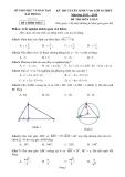 Kỳ thi tuyển sinh vào lớp 10 môn toán THPT năm học 2013 - 2014 - Sở giáo dục đào tạo Hải Phòng