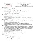 Đề thi tuyển sinh vào lớp 10 THPT năm học 2012 - 2013 môn toán - Sở giáo dục đào tạo Thái Bình