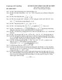 Kỳ thi tuyển sinh vào lớp 10 môn toán THPT năm học 2013 - 2014 - Sở giáo dục đào tạo Lâm Đồng