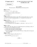 Kỳ thi tuyển sinh vào lớp 10 môn toán THPT năm học 2013 - 2014 - Sở giáo dục đào tạo Nghệ An