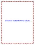 Noun phrase - Ngữ danh từ trong tiếng Anh