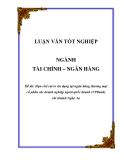 Luận văn: Hạn chế rủi ro tín dụng tại ngân hàng thương mại cổ phần các doanh nghiệp ngoài quốc doanh (VPBank) chi nhánh Nghệ An