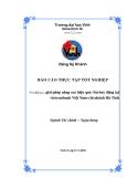 Luận văn: giải pháp  nâng cao hiệu quả vốn huy động tại vietcombank Việt Nam-chi nhánh Hà Tĩnh