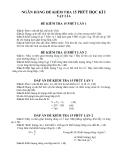 Ngân hàng đề kiểm tra 15 phút học kì 1 môn vật lý lớp  6