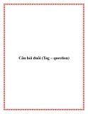 Câu hỏi đuôi (Tag – question)