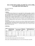 Báo cáo thực hành xây dựng công thức luân canh cây trồng  cho huyện Khoái Châu-Hưng Yên