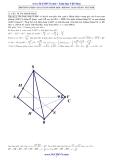 Phương pháp giải Hình học không gian bằng Vector