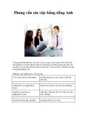 Phỏng vấn xin việc bằng tiếng Anh