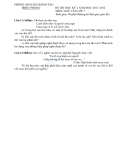 Đề kiểm tra học kì I môn ngữ văn lớp 7 Phòng GD&ĐT Triệu Phong năm 2011-2012