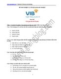Đề thi nghiệp vụ tín dụng doanh nghiệp VIB 2012
