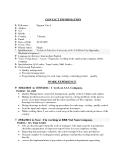 Mẫu đơn xin việc bằng tiếng anh - Trưởng nhóm QA/QC