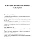Đề thi chuyên viên QHKH của ngân hàng An Bình 2010