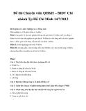 Đề thi Chuyên viên QHKH – BIDV Tp Hồ Chí Minh 14/7/2013