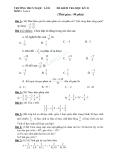 Tổng hợp đề kiểm tra học kì II môn Toán học lớp 6 năm học 2013 -  Trường THCS Ngọc Lâm