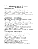 Đề kiểm tra học kì 2 môn sinh học lớp 10 nâng cao trường THPT TX Quảng Trị -45 phút