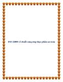 ISO 22000 về chuỗi cung ứng thực phẩm an toàn