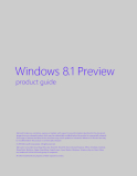 Windows 8.1 Preview product guide