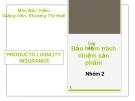 Chủ đề: Bảo hiểm trách nhiệm sản phẩm
