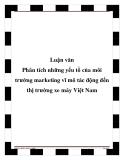 Luận văn Phân tích những yếu tồ của môi trường marketing vĩ mô tác động đến thị trường xe máy Việt Nam