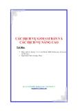 CÁC DỊCH VỤ GSM CƠ BẢN VÀ CÁC DỊCH VỤ NÂNG CAO