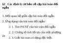 Các định lý cơ bản về cặp bài toán đối ngẫu 2016
