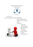 Kĩ năng giao tiếp và ứng xử với khách hàng