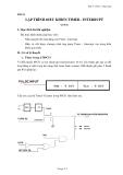 Bài 5: Lập trình điều khiển Timer - Interrupt