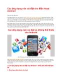 Các ứng dụng nên cài đặt cho điện thoại Android